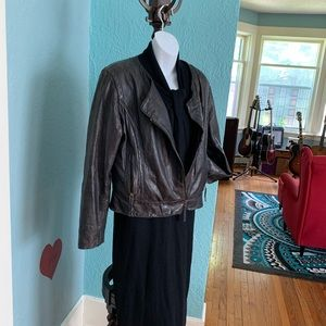 Size L Distressed Leather Jacket